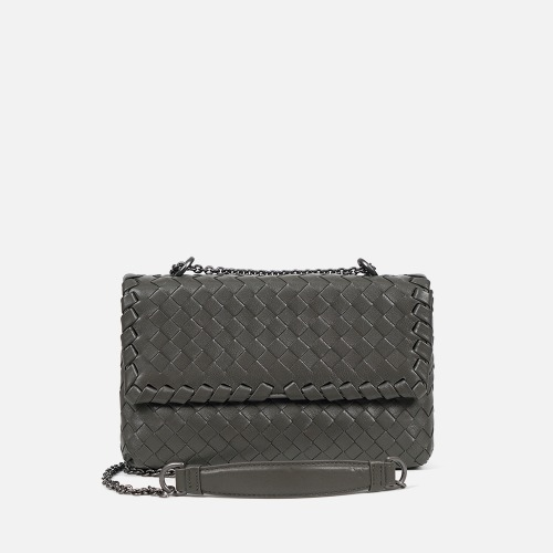 2 Chain Shoulder Bag (S) - KHAKI GRAY