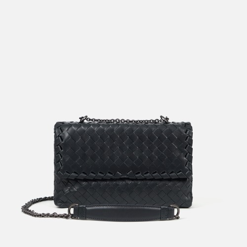 2 Chain Shoulder Bag (S) - DARK GRAY
