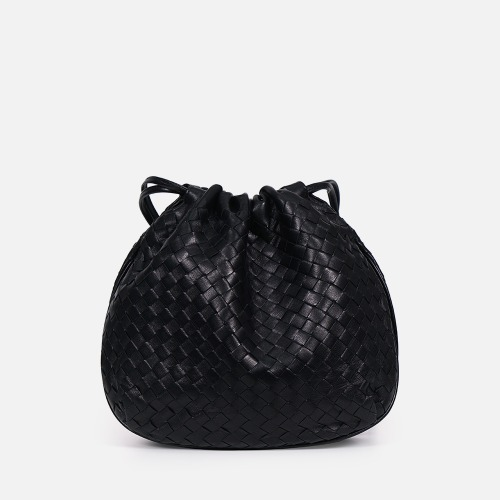 Net Bucket Bag - BLACK